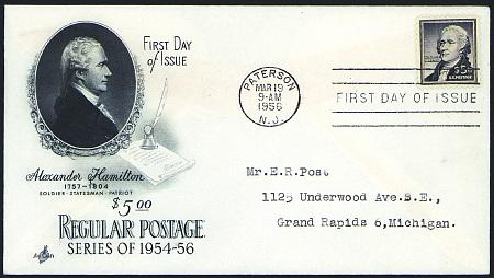 1954-1961 Liberty FDC #1030-1053