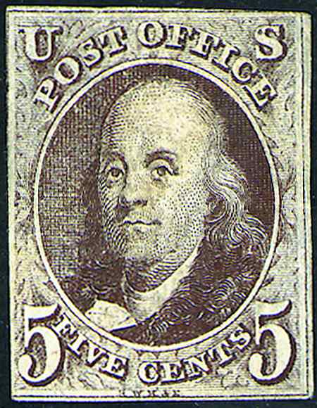 1847 Imperforate First Stamps  #1-2