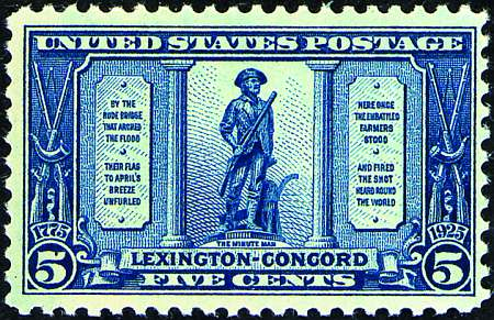 1925 Lexington-Concord  #617-619