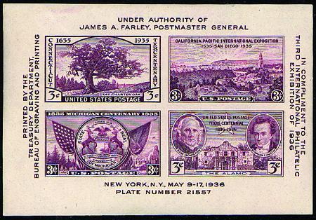1936 TIPEX Sheet #778