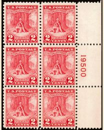 #645 - 2¢ Valley Forge: Plate Block