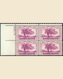 #772 - 3¢ Connecticut : Plate Block