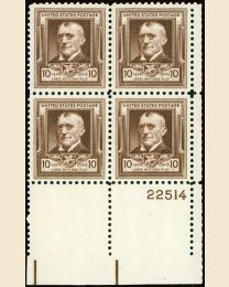 # 868 - 10¢ J.W. Riley: plate block