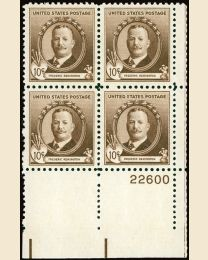 # 888 - 10¢ F. Remington: plate block