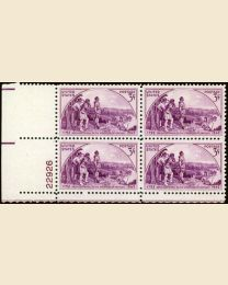 # 904 - 3¢ Kentucky: plate block