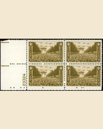 # 934 - 3¢ Army: plate block