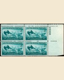 # 936 - 3¢ Coast Guard: plate block