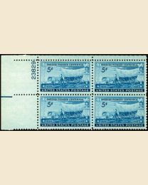# 958 - 5¢ Swedish Pioneers: plate block