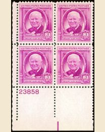 # 960 - 3¢ William A. White: plate block