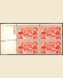 # 964 - 3¢ Oregon Territory: plate block