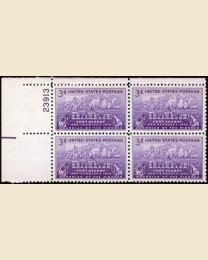 # 970 - 3¢ Fort Kearny: plate block