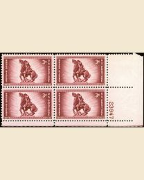 # 973 - 3¢ Rough Riders: plate block