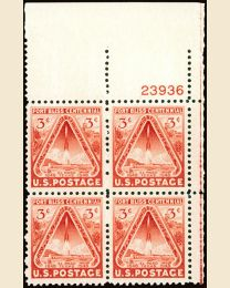 # 976 - 3¢ Fort Bliss: plate block