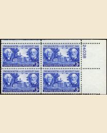# 982 - 3¢ Wash. & Lee Univ.: plate block