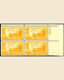 # 997 - 3¢ California: plate block