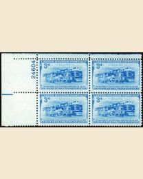 #1006 - 3¢ B.& O. Railroad: plate block
