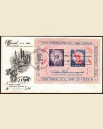 US #1075 FIPEX Sheet First Day Cover