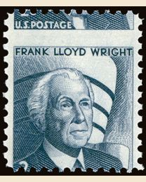 US #1280 2¢ Frank Lloyd Wright Misperf