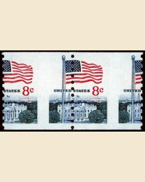 8¢ Flag & White House Error
