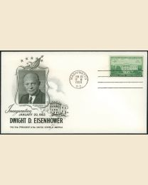 1953 Dwight Eisenhower Inaugural Cover