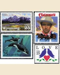 #1990Y - 1990  38 stamps