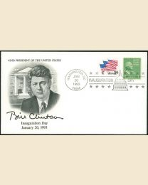 1993 William J. Clinton Inaugural Cover