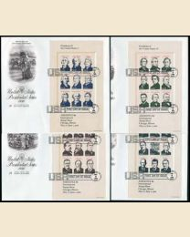22¢ US Presidents FDCs