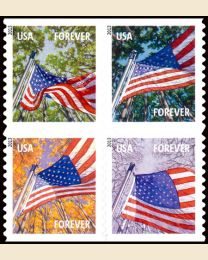 #4778S- (46¢) Flag in Four Seasons booklet