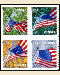 #4796S- (46¢) Flag in Four Seasons booklet