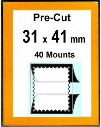 Pre-cut Mounts  31 x 41 mm  (stamp w x h)