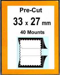 Pre-cut Mounts  33 x 27 mm  (stamp w x h)