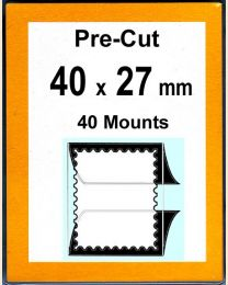 Pre-cut Mounts  40 x 27 mm  (stamp w x h)