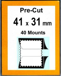 Pre-cut Mounts  41 x 31 mm  (stamp w x h)
