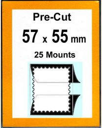 Pre-cut Mounts  57 x 55 mm  (stamp w x h)