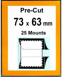 Pre-cut Mounts  73 x 63 mm  (stamp w x h)
