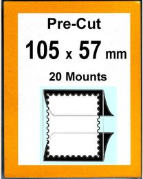 Pre-cut Mounts 105 x 57 mm  (stamp w x h)