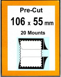 Pre-cut Mounts 106 x 55 mm  (stamp w x h)
