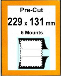Pre-cut Mounts 229 x 131 mm  (stamp w x h)