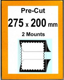 Pre-cut Mounts 275 x 200 mm  (stamp w x h)