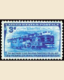 #1006 - 3¢ B.& O. Railroad