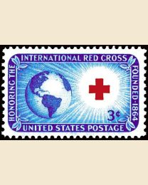 #1016 - 3¢ Red Cross