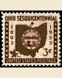 #1018 - 3¢ Ohio Statehood