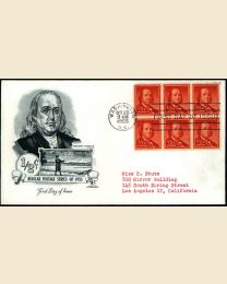 #1030 - 1/2¢ Franklin: FDC