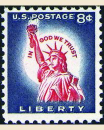#1042 - 8¢ Liberty Re-engraved