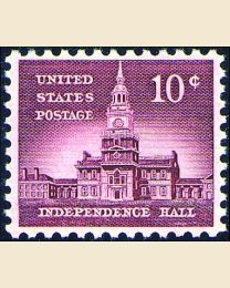 #1044 - 10¢ Independence Hall