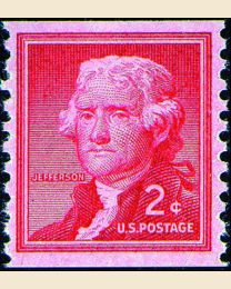 #1055 - 2¢ Thomas Jefferson