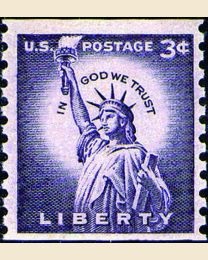 #1057 - 3¢ Statue of Liberty
