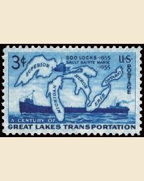 #1069 - 3¢ Soo Locks Centenary