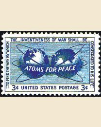 #1070 - 3¢ Atoms for Peace