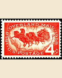 #1120 - 4¢ Overland Mail